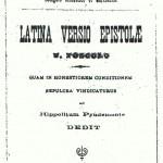 Frontespizio opuscolo della versione di Domenico Musone 1880.