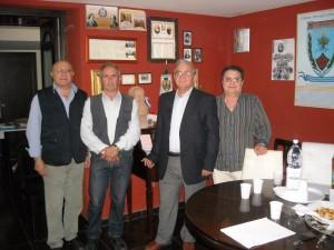 Marcianise 29 maggio 2012 - Sede di Risvegli Culturali:  Donato Musone, Francesco Piccolo, Giuseppe Serino e Raffaele Restivo. Foto D.Musone
