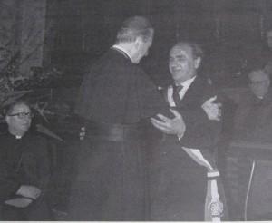 Marcianise - Incontro del Sindaco Prof. Pietro Squeglia e il Cardinale Martini - Foto P.Squeglia -Coll.D.Musone