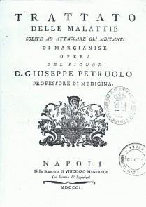 1801 Trattato delle Malattie solite ad attaccare gli abitanti di Marcianise, D.Giuseppe Petruolo